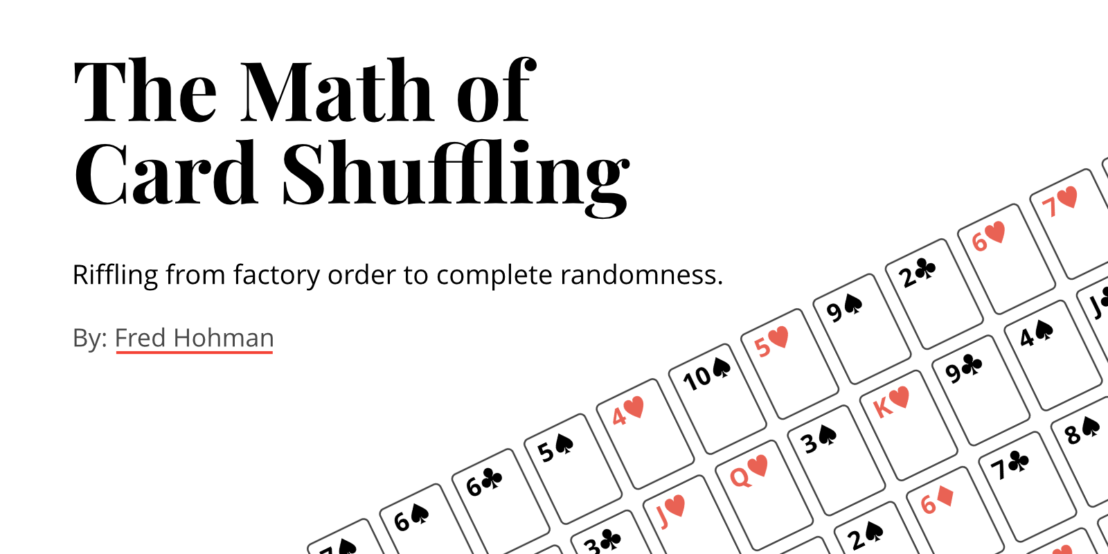 The Math of Card Shuffling thumbnail