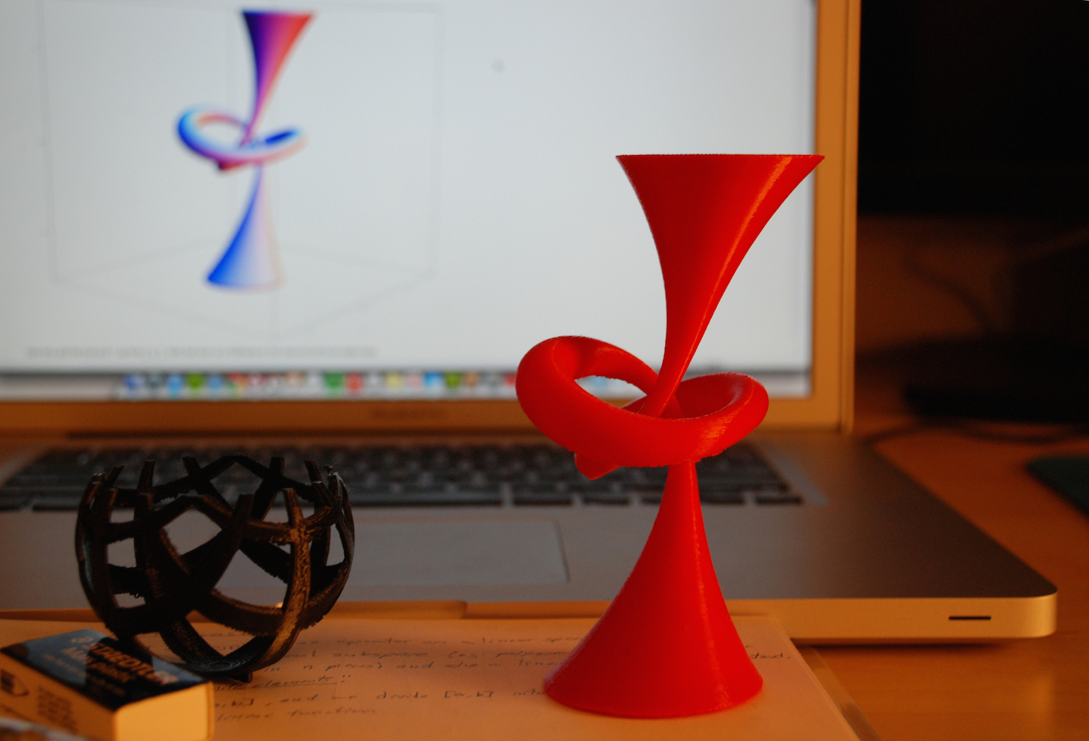 3D Printing the Trefoil Knot and its Pages.